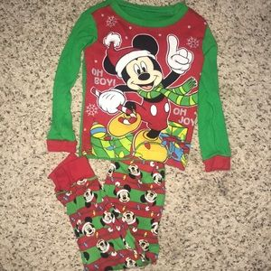 Toddler Mickey Christmas pajamas
